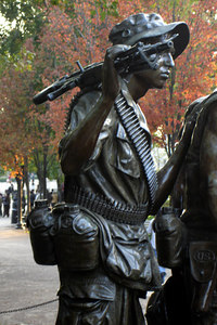 The Vietnam Veterans statue - Washington, DC ... October 22, 2006 ... Photo by Rob Page III
