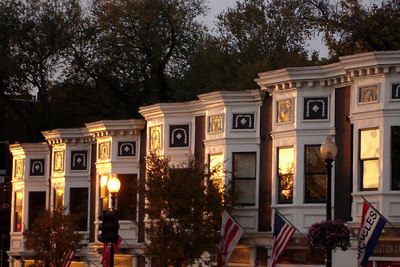 Townhouses along M St. - Washington, DC ... November 6, 2006 ... Photo by Rob Page III