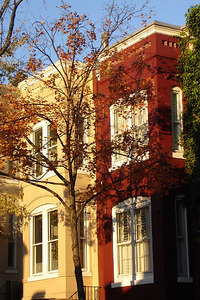 The townhouses along 34th St. - Washington, DC ... November 5, 2006 ... Photo by Rob Page III
