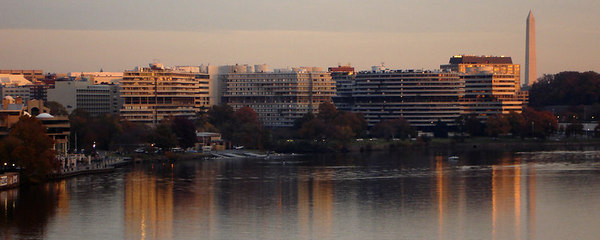 The Georgetown Harbor area at sunset - Washington, DC ... November 6, 2006 ... Photo by Rob Page III
