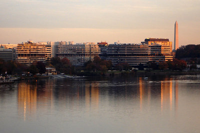 Watergate and the Washington Monument - Washington, DC ... November 6, 2006 ... Photo by Rob Page III
