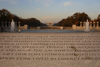 The World War II Memorial on Veteran's Day - Washington, DC ... November 11, 2006 ... Photo by Rob Page III