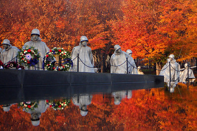 The Korean War Veterans Memorial on Veteran's Day - Washington, DC ... November 11, 2006 ... Photo by Rob Page III