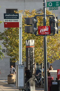 So many signs at a corner in America's capital - Washington, DC ... October 10, 2008 ... Photo by Rob Page III