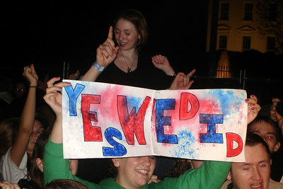 Some of the revelers down by the White House - Washington, DC ... November 4, 2008 ... Photo by Rob Page III