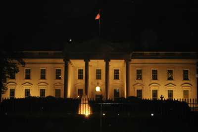 The White House on election night - Washington, DC ... November 4, 2008 ... Photo by Rob Page III