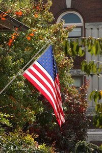An American flag in the capital - Washington, DC ... October 25, 2009 ... Photo by Rob Page III
