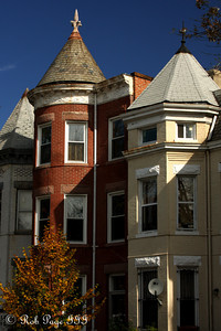 Fall on the old townhouses - Washington, DC ... October 25, 2009 ... Photo by Rob Page III