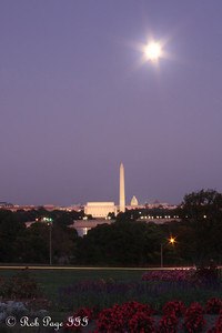 The moon rises above the city - Washington, DC ... October 3, 2009 ... Photo by Rob Page III