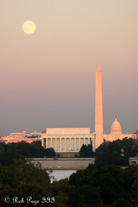 Moonrise over the city - Washington, DC ... October 3, 2009 ... Photo by Rob Page III