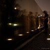 Night visitors to Vietnam Wall