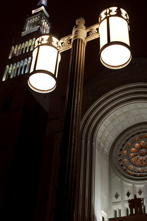 Basilica of the National Shrine of the Immaculate Conception, Light Fixture & Tower