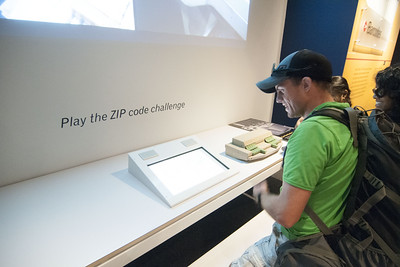 Visitors play the zip code challenge at The National Postal Museum in Washington, D.C. on Monday, August 17, 2015. Copyright 2015 Jason Barnette