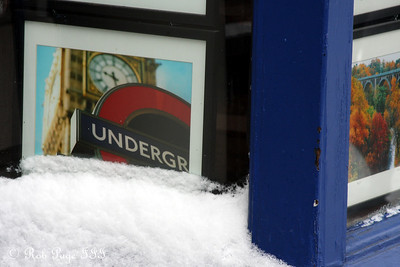 We all should have headed underground to avoid the snow and cold - Washington, DC ... March 2, 2009 ... Photo by Rob Page III