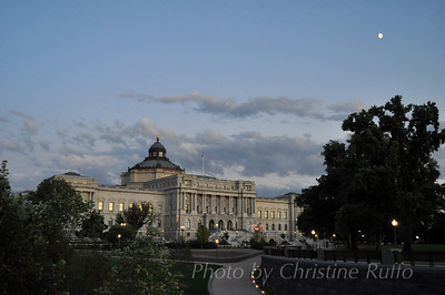 Library of Congress at dusk, Washington, D.C. Photo by Christine Ruffo