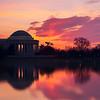 Silhouette Jefferson Memorial