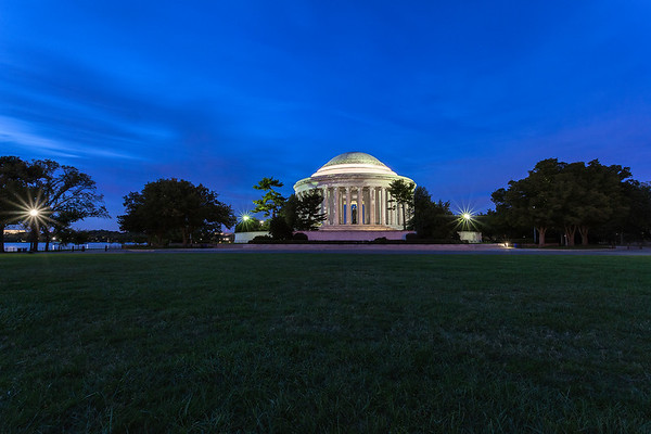 Behind the Jefferson Memorial at Blue Hour