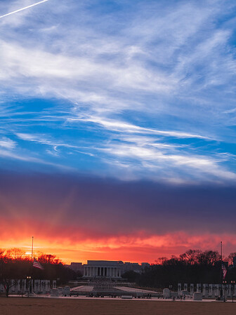 Lincoln Memorial Two Skies