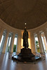 A rare moment of peace and quiet inside the Jefferson Memorial. Washington, DC<br /> <br /> DC-120628-0157