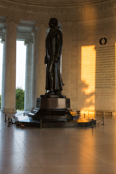 A rare moment of peace and quiet inside the Jefferson Memorial. Washington, DC<br /> <br /> <br /> <br /> DC-120628-0162