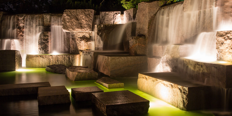 Each of the rooms in the FDR Monument contains a waterfall, each larger than the one in the prior room. Out of all the monuments, this is the one I found more connected to nature. Washington, DC<br /> <br /> DC-120628-0247