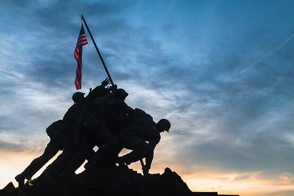 Silhouette Marine Corps War Memorial