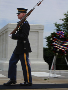 "The Tomb of the Unknown Soldier ""Here Rests in Honored Glory an American Soldier Known but to God"" - Arlington, VA ... May 30, 2005 ... Photo by Rob Page III"