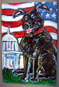 Doggy Sign - Alexandria, VA ... May 28, 2005 ... Photo by Rob Page III