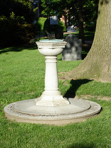 A sundial at Christ Church - Alexandria, VA ... May 28, 2005 ... Photo by Rob Page III