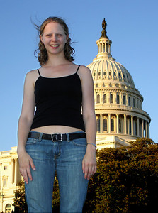 Emily and the Capitol - Washington D.C. ... May 28, 2005 ... Photo by Rob Page III