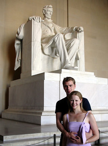 Rob and Emily chilling with Lincoln - Washington D.C. ... May 27, 2005 ... Photo by Christine Bell