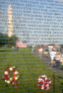 Reflections in the Vietnam Wall - Washington D.C. ... May 27, 2005 ... Photo by Rob Page III