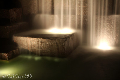 Water streams over  the rocks at the FDR Memorial - Washington, DC ... April 30, 2012 ... Photo by Rob Page III