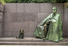 One of the many alcoves at the Franklin Delano Roosevelt Memorial in Washington, DC,  on Monday, August 18, 2014. Copyright 2014 Jason Barnette