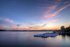 A few colors paint the sky after sunset looking across the Tidal Basin in Washington, D.C. on Saturday, August 15, 2015. Copyright 2015 Jason Barnette