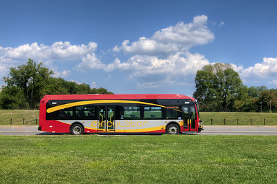 A DC Circulator bus on the National Mall in Washington, D.C. on Monday, August 17, 2015. Copyright 2015 Jason Barnette