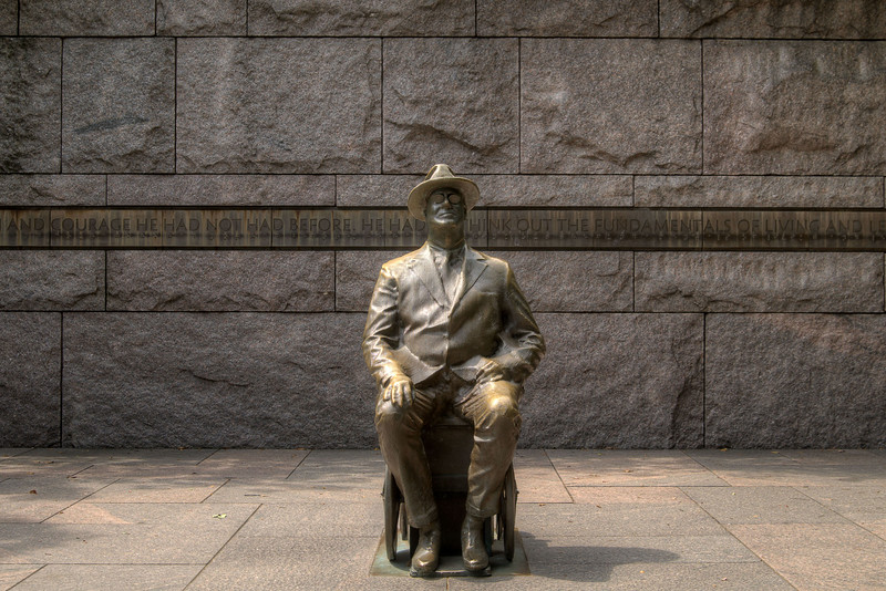 A statue depicting the former president at the Franklin Delano Roosevelt Memorial in Washington, DC,  on Monday, August 18, 2014. Copyright 2014 Jason Barnette