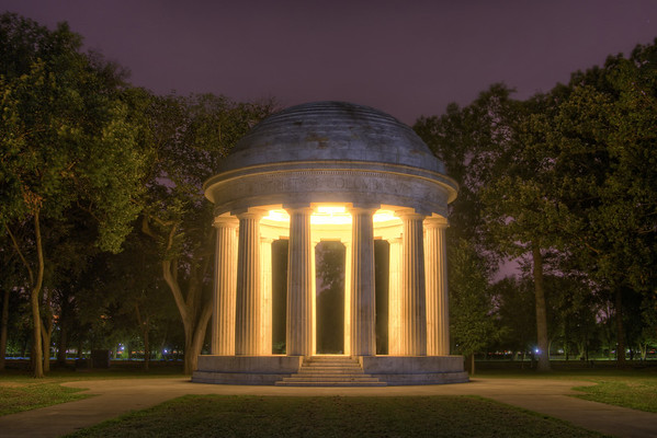 The District of Columbia War Memorial, also known as the WWI Memorial, in Washington, D.C. on Sunday, August 16, 2015. Copyright 2015 Jason Barnette