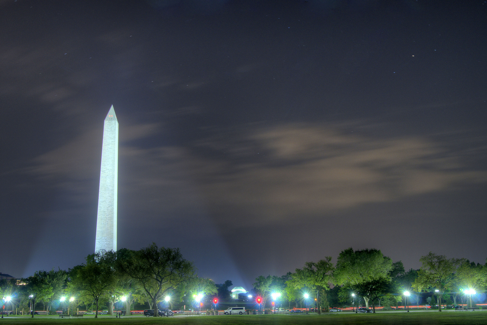 The Washington Monument shines like a beach in the night in Washington, DC, on Sunday, August 17, 2014. Copyright 2014 Jason Barnette