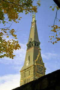 Healy Clocktower - Washington, DC ... October 2002 ... Photo by Rob Page III