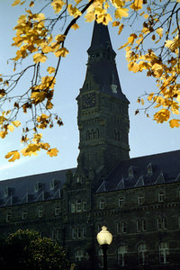 Healy Clocktower - Washington, DC ... October 2002 ... Photo by Rob Page III