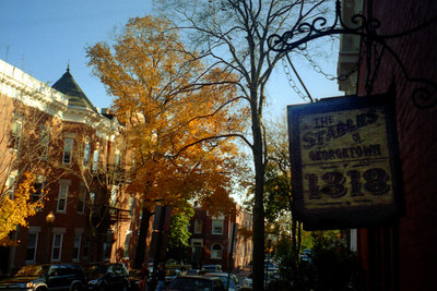 The streets of Georgetown in the fall - Georgetown, DC ... October 2004 ... Photo by Rob Page III