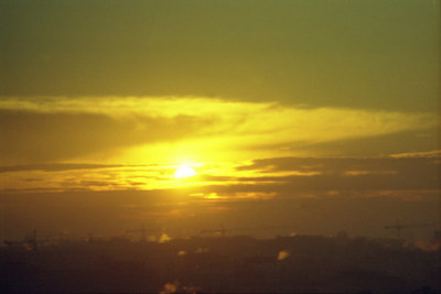 Sunrise over Washington DC. ... October 2003