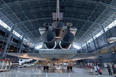 The space shuttle Discovery at the National Air and Space Museum Stephen F. Udvar-Hazy Center at Dulles International Airport in Chantilly, VA on Monday, August 18, 2014. Copyright 2014 Jason Barnette
