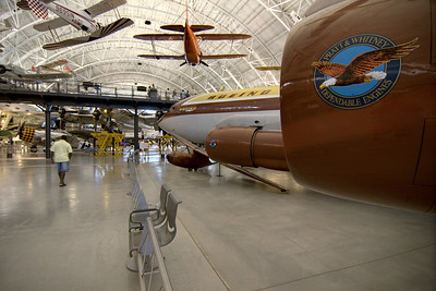 A Boeing plane featuring Pratt & Whitney engines on display at the National Air and Space Museum Stephen F. Udvar-Hazy Center at Dulles International Airport in Chantilly, VA on Monday, August 18, 2014. Copyright 2014 Jason Barnette