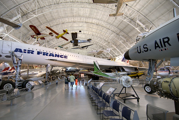 Visitors can walk under and around dozens of planes on display while also enjoying plenty of seating at the National Air and Space Museum Stephen F. Udvar-Hazy Center at Dulles International Airport in Chantilly, VA on Monday, August 18, 2014. Copyright 2014 Jason Barnette