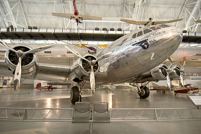 The Clipper Flying Cloud, a Boeing 307 Stratoliner, at the National Air and Space Museum Stephen F. Udvar-Hazy Center at Dulles International Airport in Chantilly, VA on Monday, August 18, 2014. Copyright 2014 Jason Barnette