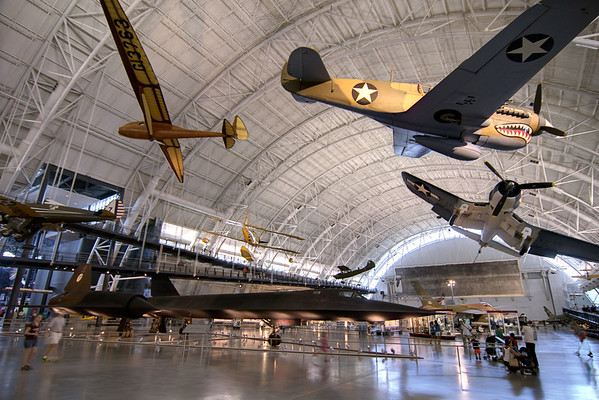 Dozens of planes on display at the National Air and Space Museum Stephen F. Udvar-Hazy Center at Dulles International Airport in Chantilly, VA on Monday, August 18, 2014. Copyright 2014 Jason Barnette