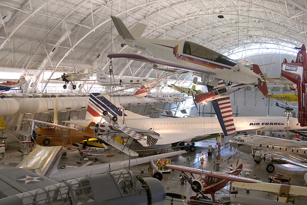 The main hangar featuring dozens of planes at the National Air and Space Museum Stephen F. Udvar-Hazy Center at Dulles International Airport in Chantilly, VA on Monday, August 18, 2014. Copyright 2014 Jason Barnette