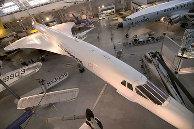 A Concorde plane on display at the National Air and Space Museum Stephen F. Udvar-Hazy Center at Dulles International Airport in Chantilly, VA on Monday, August 18, 2014. Copyright 2014 Jason Barnette